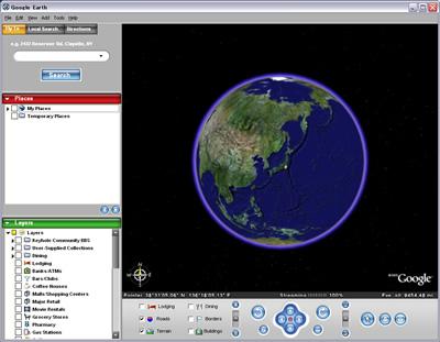 Google Earthインターフェイス
